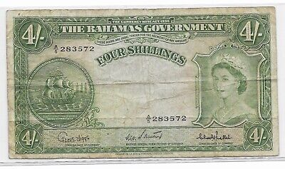 The Currency Note Act 1936 Bahamas Government Four Shillings Note