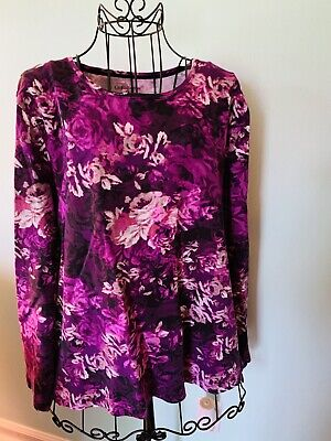 womens top size 2x Croft And Barrow BRIGHT colors