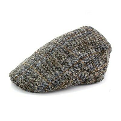 The British Bag Company Carloway Harris Tweed Cap Available In Various Sizes