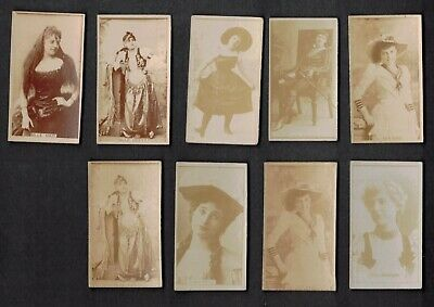 Lot Of (9) 1900'S Sweet Caporal Victorian Cigarette Card Actress Lot Psa ?