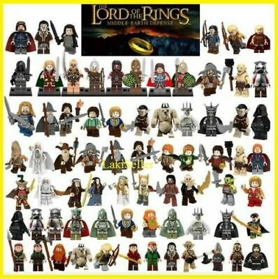 Lord Of The Rings Hobbit Mordor Orc Gandalf Frodo Minifigures Army Kids Toy NEW