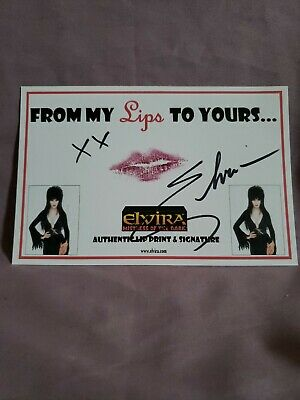 Elvira , From My Lips To Yours. ,autographed With Lip Print