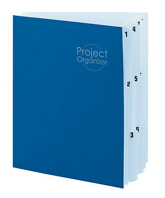 Smead Expanding File Project Organizer, Lake Blue/Navy Blue