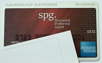 Expired American Express SPG Starwood Hotels Business Credit Card Bank AmEx USA