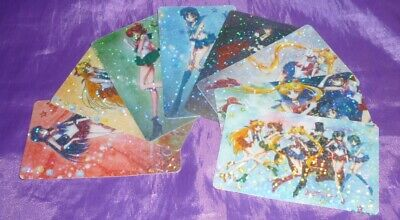 Rare Lot 8 SAILOR MOON CRYSTAL PRISM Sticker TRADING CARD