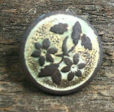 Civil War Gold Gilted Flower Button Recovered Brushy Mountain Line Ga