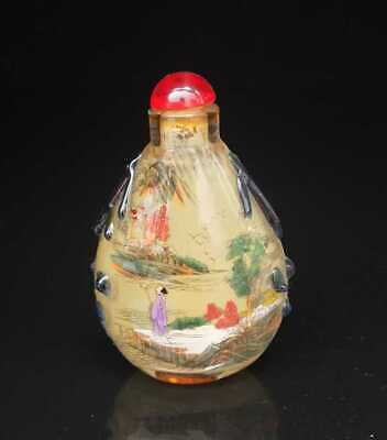 Chinese old peking Glass Handmade Inside painting Exquisite Snuff Bottles 006
