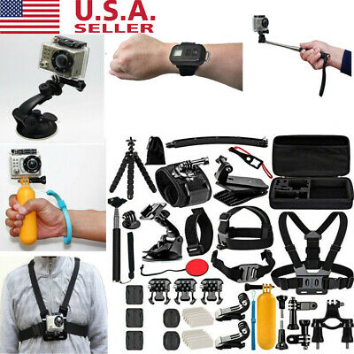 ACCESSORIES KIT For GOPRO 8 7 6 Outdoor Action Sports Camera Mount Set 50 in 1
