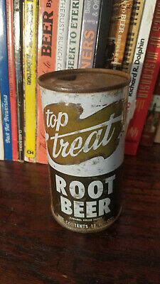 Top Treat Root Beer 12oz Flat Top Soda Can  Chicago