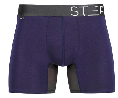 Step One Men's Bamboo Underwear TRUNK AHOY SAILOR NAVY SMALL