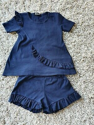 Girls Frill Shorts And T-shirt Set Age 8 Years