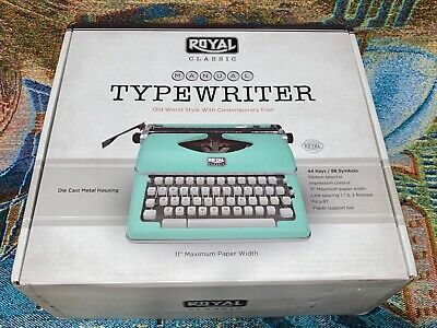 New Mint Green Royal Classic Manual Typewriter - 79101T
