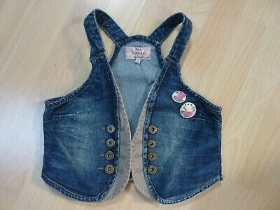 Gilet jean MAYORAL badges fille