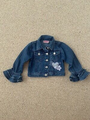 Gorgeous Girls Denim Jacket With Frilly Sleeves. Age 2-3 Excellent Condition