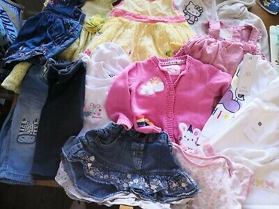 Bundle Baby Girl 6-9 Months Clothes, Dresses, New Tops, Vests, Skirt