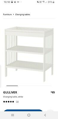 Ikea White Baby Changing Station - Gulliver