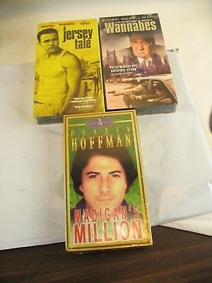 vhs Jersey Tale, Madigan's Million, Wannabes. lot of 3