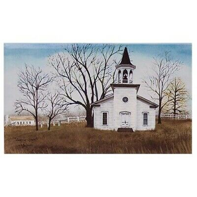 Amazing Grace Country White Church Billy Jacobs Wall Canvas Box Print 12x20