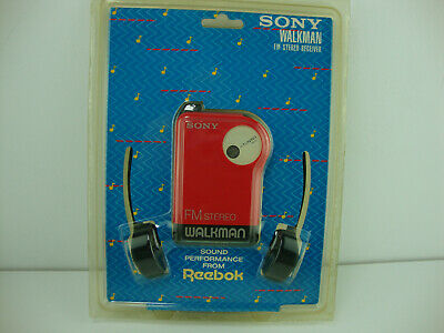 Sony Walkman Red SRF-26 FM Radio & Headphones, Reebok Sound Performance Sealed