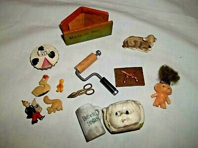 Lot Of 13 Shadow Box Miniatures Doll House
