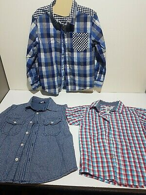 Boys Short / Long Sleeved Summer Shirt Bundle x3 5-6 Ben Sherman George & Tu