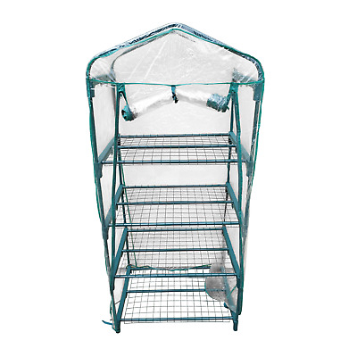 KCT 4 Tier Mini Garden Greenhouse with Shelves and Waterproof Cover