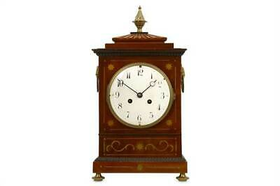 Regency Antique English Brass Inlaid Mahogany Bracket Clock For A Nurses Fund