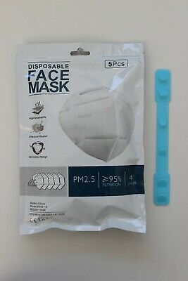 [5 pcs] - KN95 Disposable Respirator Face Mask - FFP2 CE Certified