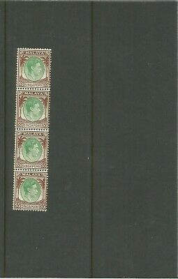 Malaya Singapore Block Of George V $5 Stamps Mint Strip  Asia  Commonwealth