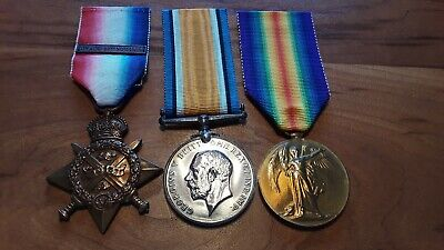 British Group of 3: 2nd Dragoons-Named:1914 Star with Bar, War and Victory Medal