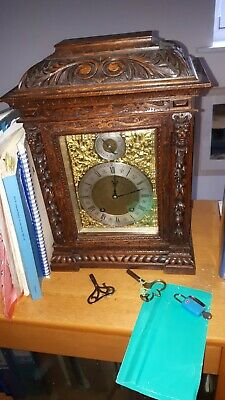 "Antique Black Forest ""Boardroom Clock"" Quarter Striking"