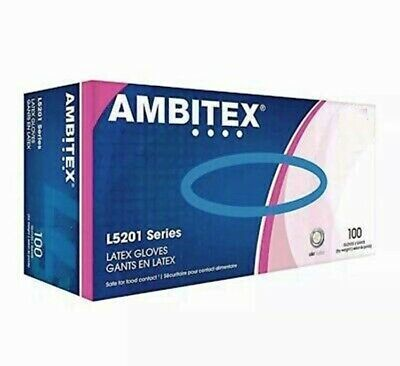 Ambitex Latex Gloves - 100/box ****New - Sealed Boxes****