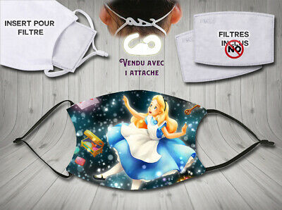 masque de protection adulte waterproof  anti postillons - disney alice 002