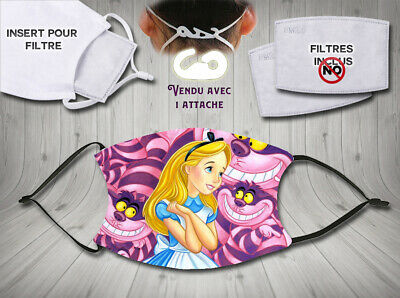 masque de protection adulte waterproof  anti postillons - disney alice 003