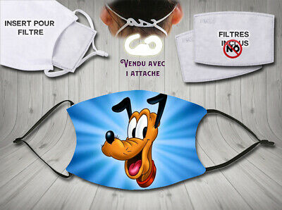 masque de protection adulte waterproof anti postillons - disney pluto
