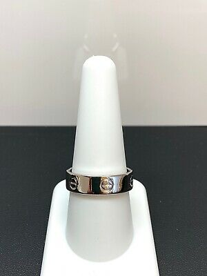 Lovely Authentic Cartier Band In 18K White Gold Size 9.5
