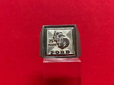 "Vintage 10k Yellow Gold ""25 Years"" Ford Ring"