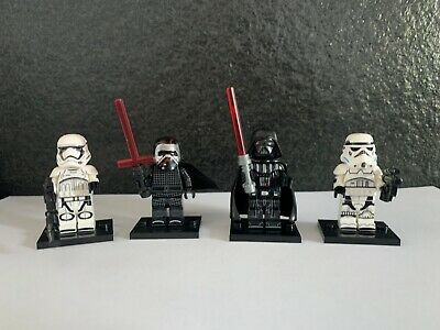 STAR WARS Kylo Ren Darth Vader X4 Sith Custom Minifigures Bundle !UK STOCK!