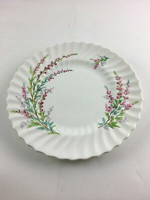 Royal Doulton England BELL HEATHER Scalloped Bread Plate w Gold Trim