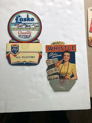 2 Cardboard Bottle Toppers Whistle And Lasko Quality Beverages