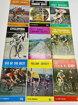 Vintage Bicycle Booklets, Bicycling, Cycling, Racing, Lot Of 9