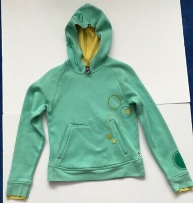 Animal ladies/girls hooded top size 10 light green and yellow double layered