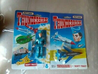 Thunderbirds By Matchbox (2) Scott Tracy And Thunderbird 1 Pilot New In Box
