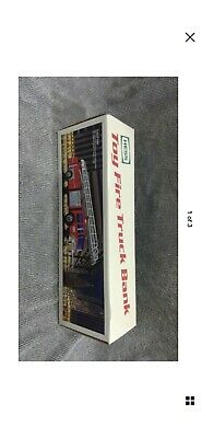 1986 Hess Toy Fire Truck Bank In Original Box New In Box!