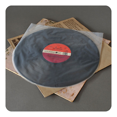 """40 Antistatic Round Bottom 12"""" Lp Inner Record Sleeves 3 Mil (Vinyl Collector)"""