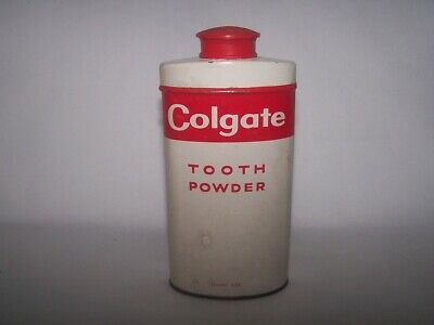 Vintage Can COLGATE Tooth Powder 4 oz Giant Size 1/4 Full