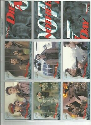 James Bond, Die Another Day set and chase cards, see description