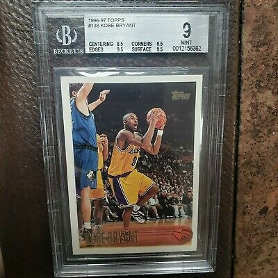 1996=97 Kobe Bryant ROOKIE #138 Mint 9 with (3) 9.5 subs. A Beautiful Card!
