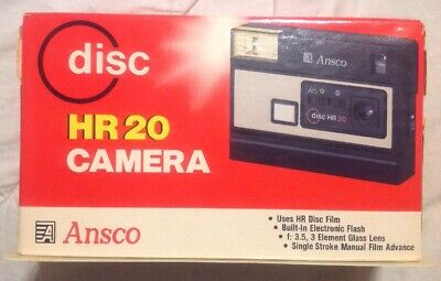 Vintage 1983 Ansco disc HR 20 Camera with Cream Colored Front Plate