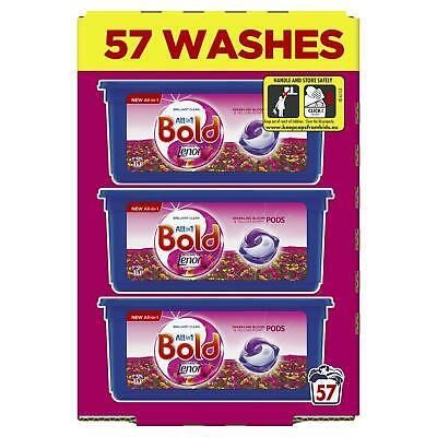 Bold All in 1 Pods Bloom & Yellow Poppy Washing Liquid Capsules, 57 Fresh Washes
